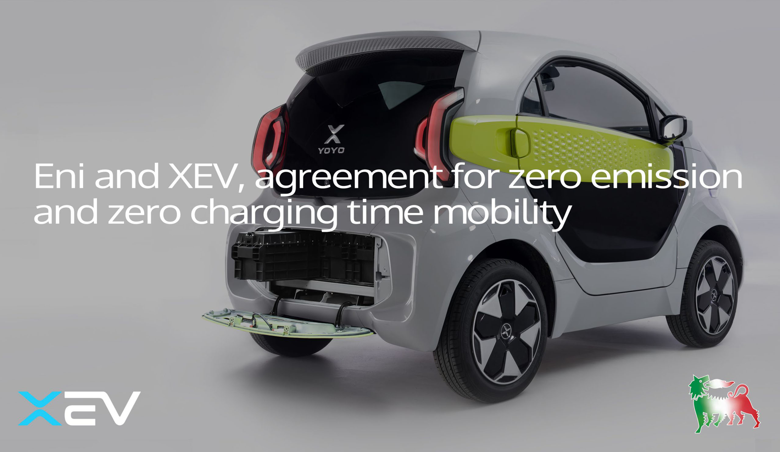 Eni and XEV, agreement for zero emission and zero charging time mobility