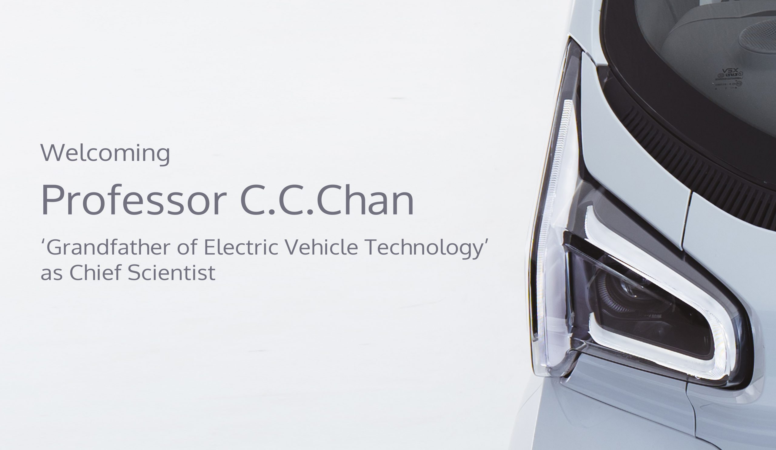 XEV Appoints 'Grandfather of Electric Vehicle Technology' Professor C.C.Chan as Chief Scientist